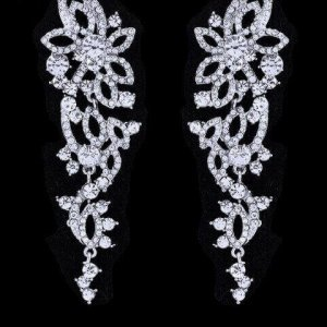 FLORAL PATTERN BRIDAL EARRINGS