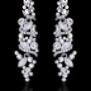 Silver Bridal Drop Earrings