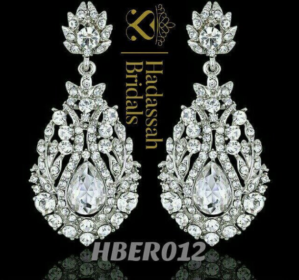 Tear Drop Crystal Bridal Earrings