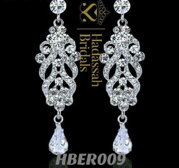 Crystal Floral Bridal Drop Earrings