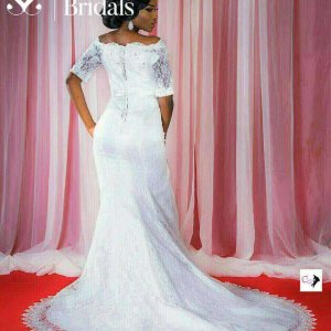 OFF SHOULDER MERMAID WEDDING GOWN WITH BELT