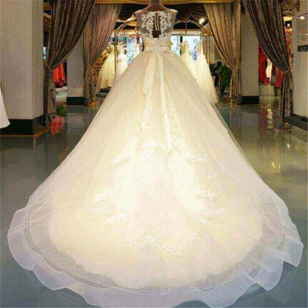 LONG TAIL BALL WEDDING GOWN IN LAGOS