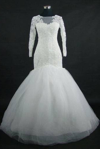 Mermaid Wedding Gown With Sleeves